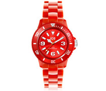 ICE solid Red - Rote Herrenuhr mit Plastikarmband - 000628 (Medium)