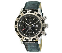Armbanduhr XL Gear Chronograph Quarz Leder CD-GEAR-QZ-LT-STST-BK