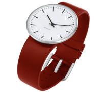 Unisex-Armbanduhr Analog Edelstahl weiss 43477
