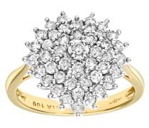 Damen-Ring 18 Karat 750 Gelbgold Diamanten