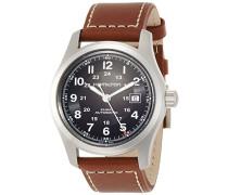 Analog Automatik Uhr mit Leder Armband H70555533