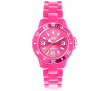 ICE solid Pink - Rosa Damenuhr mit Plastikarmband - 000629 (Medium)