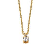 Halskette 925 Sterling Silber rhodiniert Glas Zirkonia Toujours 42 cm Weiß S.PCNL90460B420