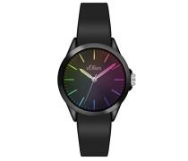 Analog Quarz Uhr mit Silikon Armband SO-3197-PQ