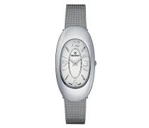 4416.1132 Quarz Schweizer Uhr mit weißem Zifferblatt Analog-Anzeige und Silber Edelstahl Armband