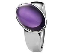 Damen-Ring Edelstahl Quarz lila
