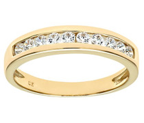 Damen-Ring 9 K 375 Gelbgold Zirkonia