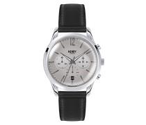 Erwachsene Chronograph Quarz Uhr mit Leder Armband HL39-CS-0077
