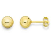 Ohrringe Gelbgold 9 Karat/375 Gold Ohrstecker Kugel