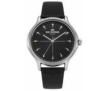 Datum klassisch Quarz Uhr mit Leder Armband WB018B