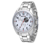 Chronograph Quarz Uhr mit Edelstahl Armband R3273690010
