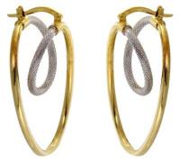 CDMC316 Ohrringe Gold 2 Farben 375/1000 3