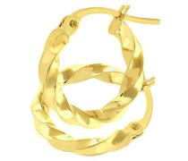 Damen-Ohrringe 375 Gelbgold 9 Karat