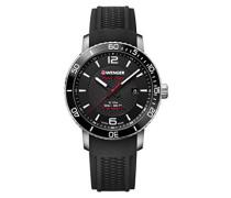 Erwachsene Analog Quarz Uhr mit Silikon Armband 01.1841.102