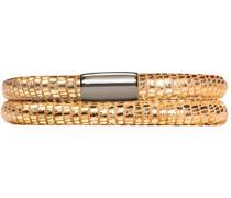 Armband JLo Reptil 2-reihig Edelstahl Leder 40.0 cm - 1001-40
