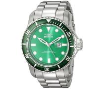 20096 Pro Diver Uhr Edelstahl Quarz grünen Zifferblat