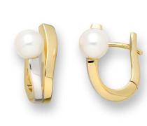 MB106E Ohrringe 14 Karat (585) Gelb-/Weißgold mit Perlen
