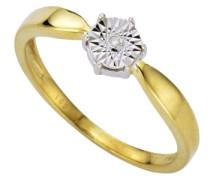 Diamonds by Ellen K. Ring 333 Gelbgold/Weißgold Brillant 0.01 Karat W 18 453370025-018