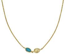 Strang-Halskette 925_Sterling_Silber Türkis 300250004-47