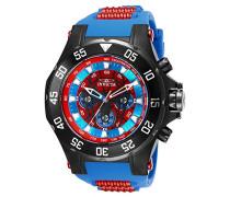 25689 Marvel - Spiderman Uhr Edelstahl Quarz roten Zifferblat
