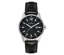 Unisex-Armbanduhr Analog Quarz Schwarz 7715.1537