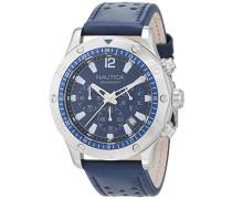 Analog Quarz Uhr mit Leder Armband NAD16547G