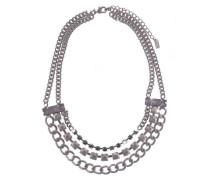 Damen Halskette Messing Acryl 45 cm violett 03422