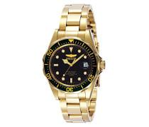 8936 Pro Diver Uhr Edelstahl Quarz schwarzen Zifferblat