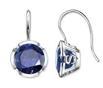 Ohrhänger 925 Silber Synthetischer Saphir blau H1837-048-32
