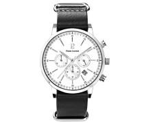 Herren Analog Quarz Uhr mit Leder Armband 207H103