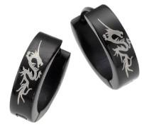 Stainless Steel Edelstahlcreole schwarz mit weissem Drachen 385010010