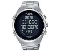 Digital Quarz Uhr mit Edelstahl Armband PQ2055X1