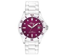 Damen-Armbanduhr Analog Quarz Silikon SO-2711-PQ
