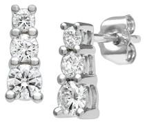 Ohrringe 9 Karat 375 Weißgold Diamant PE02379W