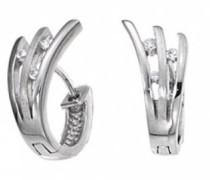 D32058Z-zeitlos-Ohrringe Sterling-Silber 925/1000 Zirkonia Weiß
