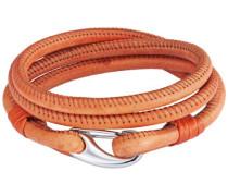 Unisex-Armband Edelstahl Leder 38 cm - 609070231
