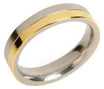 Unisex-Ring You and me Titan teilvergoldet