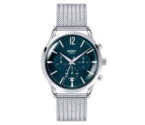 Chronograph Quarz Uhr mit Edelstahl Armband HL41-CM-0037
