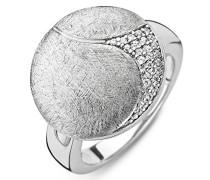 Sterling-Silber 925 Silber Rundschliff Weiß Oxyde de Zirconium Silber