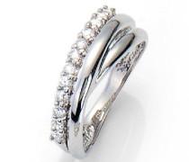 Damen-Ring 925 Sterlingsilber Zirkonia weiß