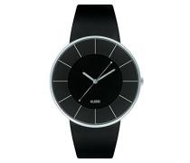Armbanduhr Analog Quarz Leder schwarz AL8004