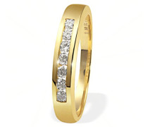 Ring Gelb Gold 585 7 Diamanten Lupenrein 0