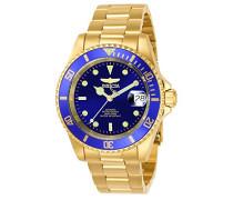 8930OB Pro Diver Uhr Edelstahl Automatik blauen Zifferblat