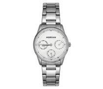 Multi Zifferblatt Quarz Uhr mit Edelstahl Armband MG 006-FM