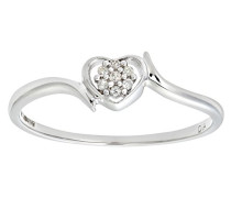 Damen-Ring 9 K Weißgold P1 Diamant 0,03 ct