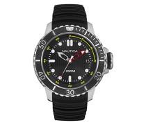 Analog Quarz Uhr mit Silikon Armband NAD18519G