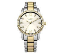 Datum klassisch Quarz Uhr mit Aluminium Armband LP526