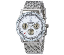 Armbanduhr XL Air Commander Chronograph Quarz Edelstahl CD-AIRC-QZ-STM2-STST-WH