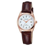 Damen Analog Quarz Uhr mit Leder Armband PH7448X1