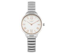 Datum klassisch Quarz Uhr mit Aluminium Armband LP578